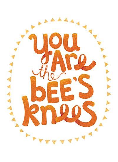art prints - Bees Knees by Kristeen Tibbits