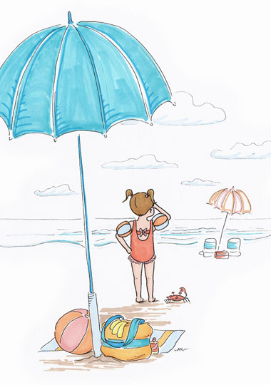 art prints - Beach Babe by Laura Ansley Koerner