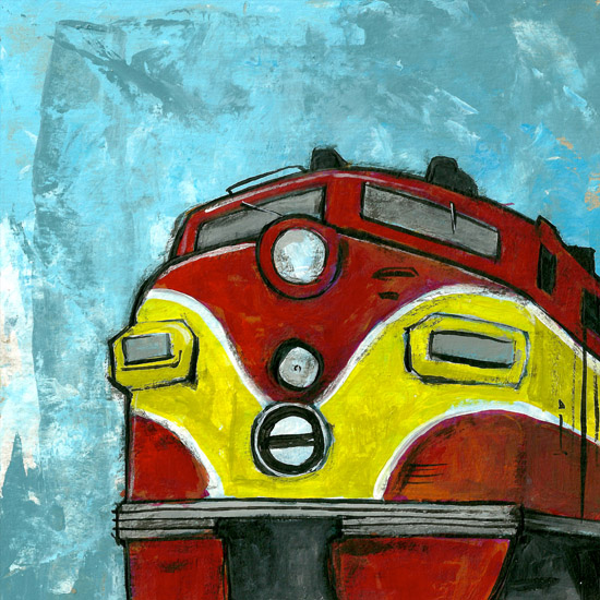 art prints - Red Train by Patrick Laurent