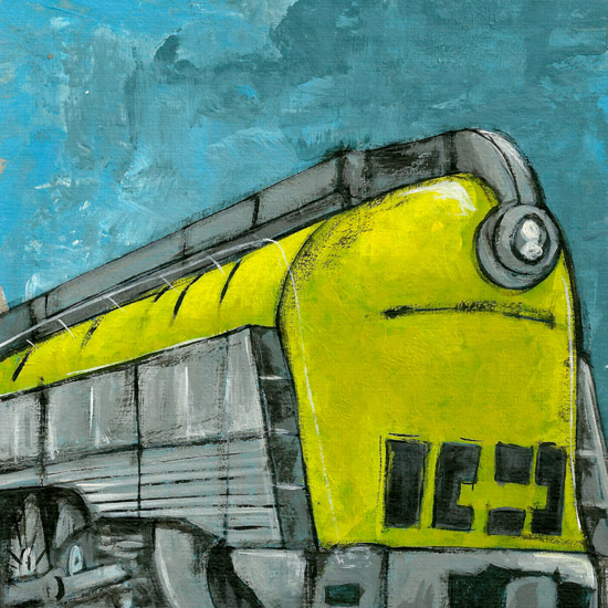 art prints - Yellow Train by Patrick Laurent