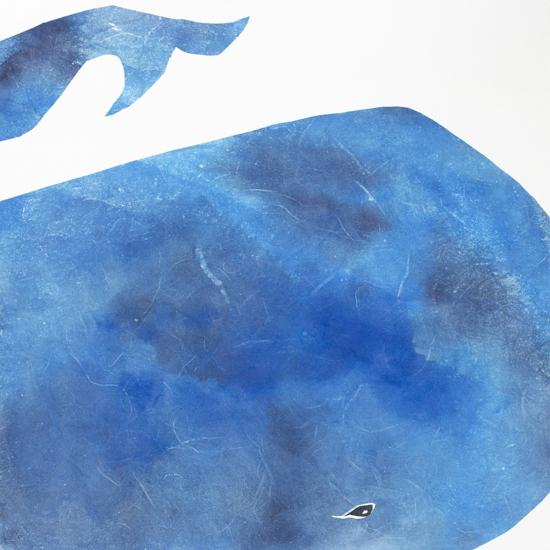 art prints - Big Blue Whale by Mia Posada