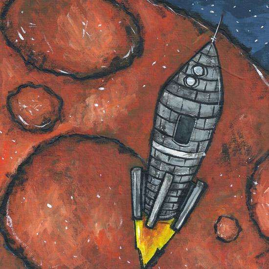 art prints - Rocket Ship by Patrick Laurent