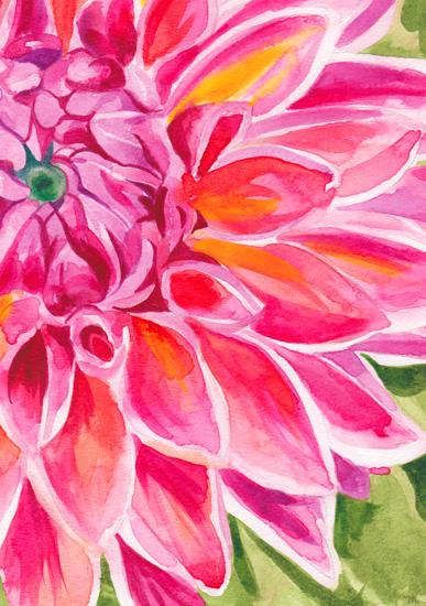 art prints - Spring Dahlia by Michelle Mospens