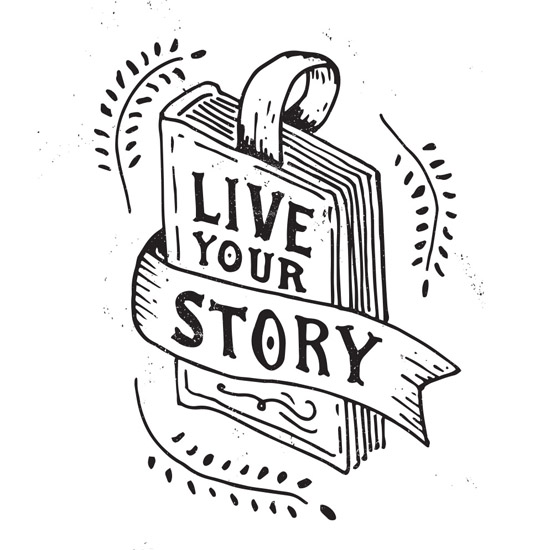 art prints - Live Your Story by Patrick Laurent