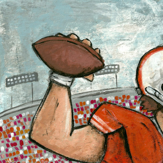 art prints - Football Player by Patrick Laurent