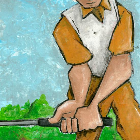 art prints - Golfer by Patrick Laurent