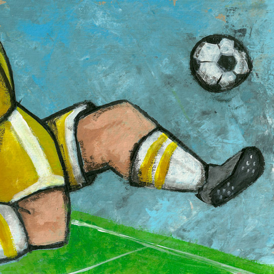 art prints - Soccer Player by Patrick Laurent