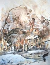 Warm Bunny Cuddles by Noelle