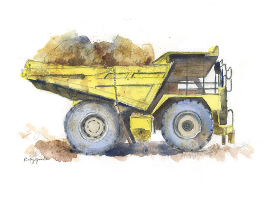 art prints - Haulin' Dirt by Kathy Jurek