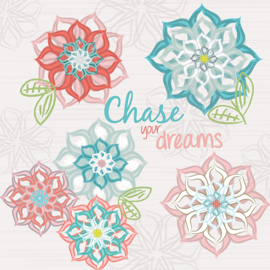 art prints - Chase Your Dreams Floral by Jolene Heckman