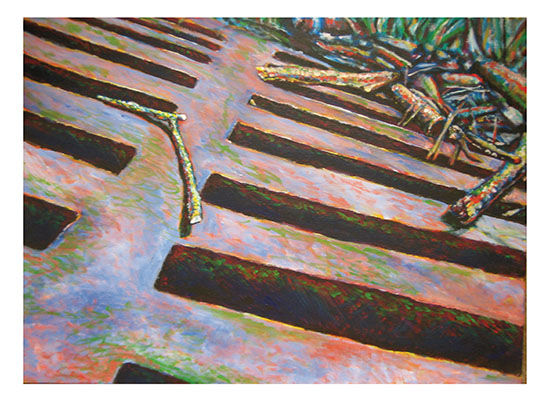 art prints - Grate and Sticks by Mandy Wilson