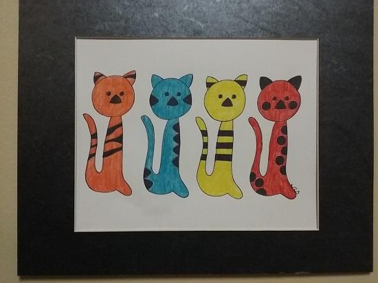 art prints - Meow 4 U by jennifer dowling