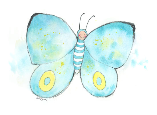 art prints - Butterfly Baby by Kathy Jurek
