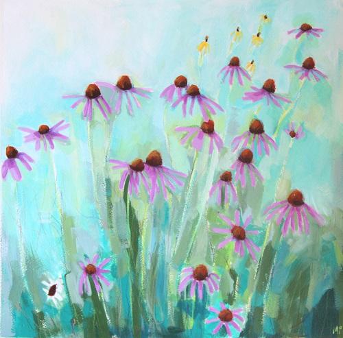 art prints - Purple Coneflowers by Megan Perry