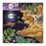 Crocodiles in Moonlight by Elaine Strocher