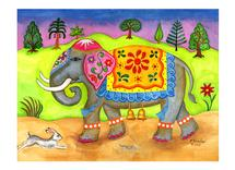 Decorated Elephant by Elaine Strocher
