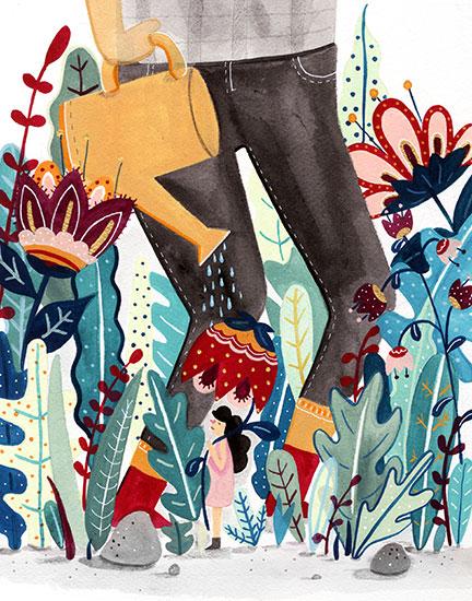 art prints - Flower Girl by Steffi Lynn