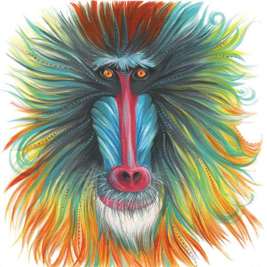 art prints - Harry Baboon by Meg Smiley