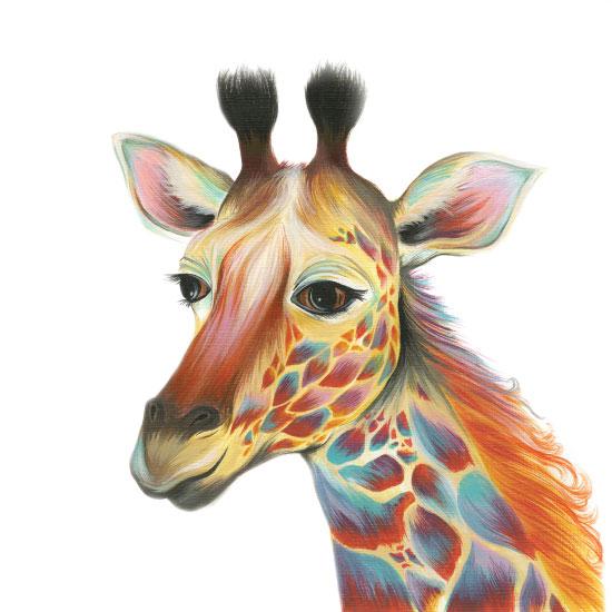 art prints - Spotty Giraffe by Meg Smiley