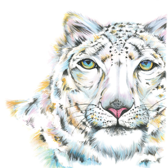 art prints - Diamond-eyed Leopard by Meg Smiley