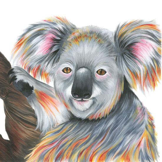 art prints - Sleepy Koala by Meg Smiley