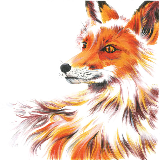 art prints - Foxy Baby by Meg Smiley