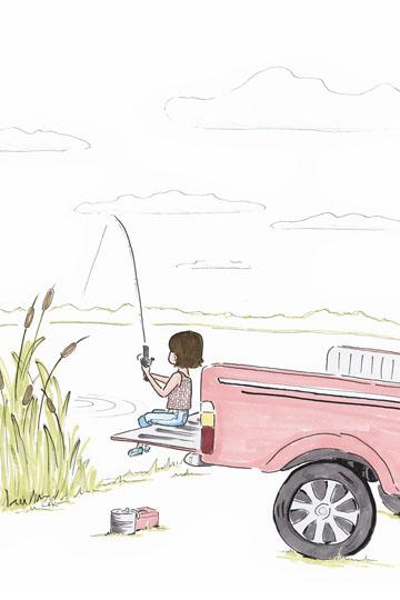art prints - Pink Pickup by Laura Ansley Koerner