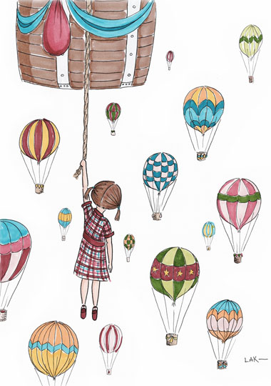 art prints - Adventure in the Sky by Laura Ansley Koerner