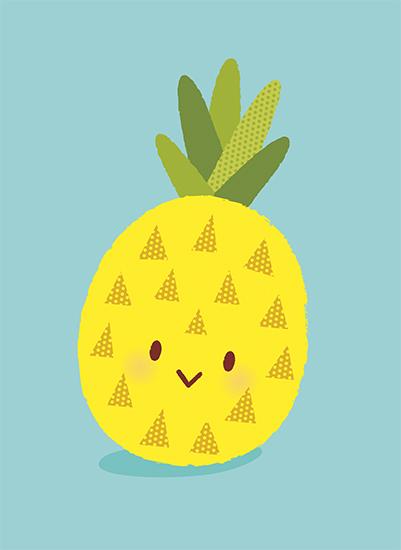 art prints - Pineapple Cutie by Kristeen Tibbits