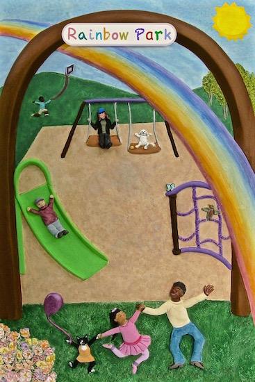 art prints - rainbow park by Missy Kaolin