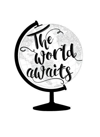 art prints - The World Awaits by LemonBirch Design