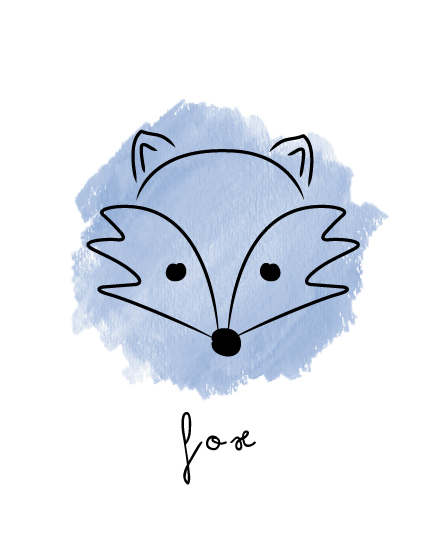 art prints - fox doodle by Thoroughly Curly Designs