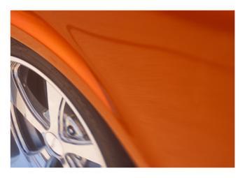 Orange Car Wheel