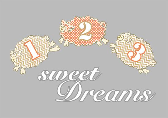 art prints - Sweet Dreams Counting Sheep by Ramona Bell