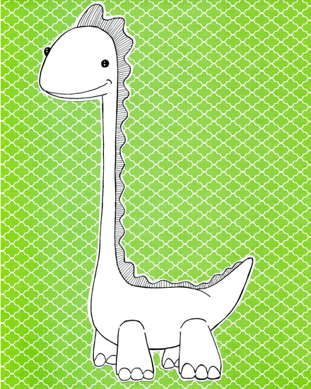 art prints - this little dino by michaelandaubrey