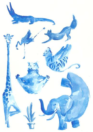 art prints - Yoganimals by Hattny Studio