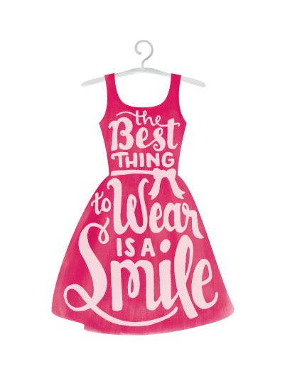 art prints - Wear a Smile by Mandy Porta