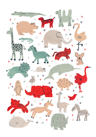 art prints - anim-alphabet by Sarah York