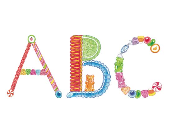 art prints - Candy ABC's by Christine Rae