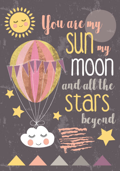 art prints - Sun Moon & Stars by Lesley Young