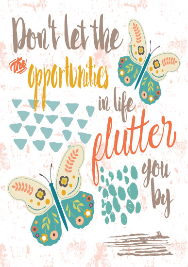 art prints - Flutterby Art Quote by Lesley Young