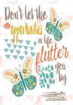 Flutterby Art Quote by Lesley Young