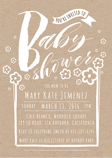 baby shower invitations - Baby Shower Bloom by Gabriel