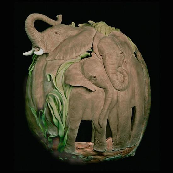 art prints - trumpeting elephants by Missy Kaolin