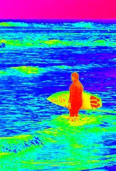Neon Surfer Dude