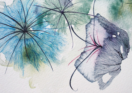 art prints - Watercolour Flowers by Nina Lewis