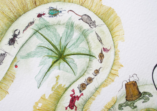 art prints - Insect Trail by Nina Lewis