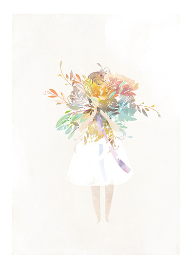 art prints - The Flower Girl by Lori Wemple