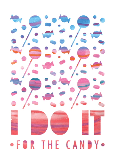 art prints - Toddler Motivation: Candy by Thoroughly Curly Designs
