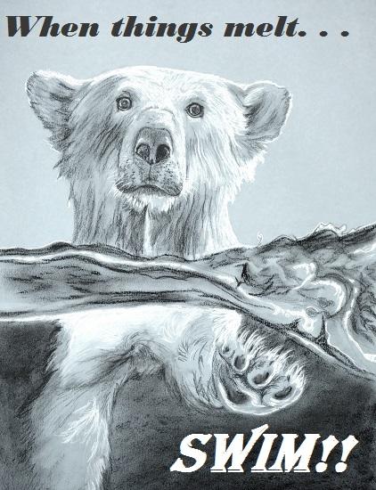 art prints - Polar Swim by Noelle
